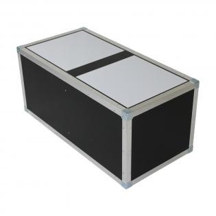 Flightcase dubbel tafelblok met plexiglas 115668