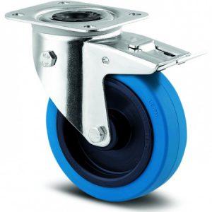 Bluewheel 100 mm met rem